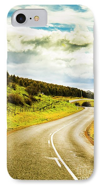 Empty Asphalt Road In Countryside IPhone Case