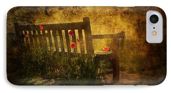 Empty Bench And Poppies Phone Case by Svetlana Sewell