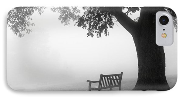 IPhone Case featuring the photograph Empty Bench by Monte Stevens