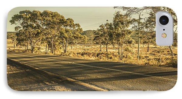 Empty Regional Australia Road IPhone Case