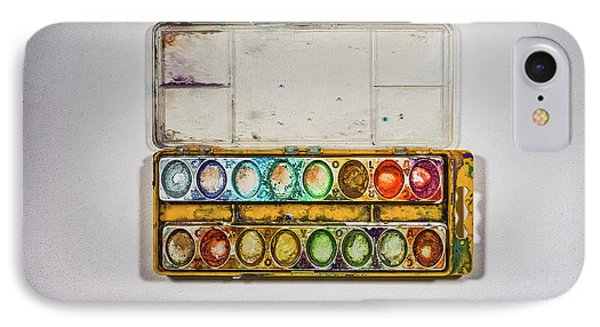 Empty Watercolor Paint Trays IPhone Case by Scott Norris