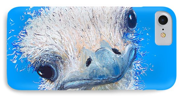 Emu Painting IPhone Case by Jan Matson