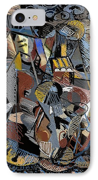 IPhone Case featuring the digital art En-cas-de-nuit by Clyde Semler