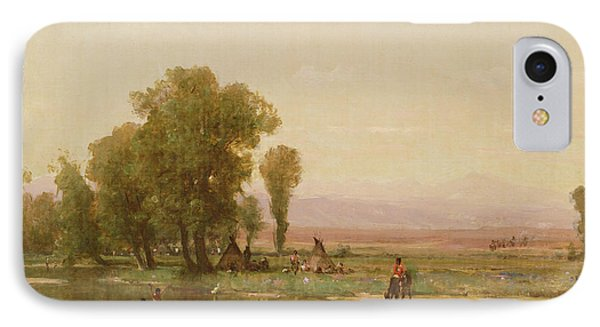 Encampment On The Platte River IPhone Case by Thomas Worthington Whittredge