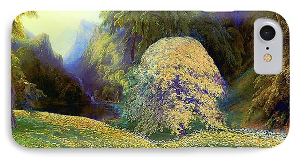 Enchanted By Daisies, Modern Impressionism, Wildflowers, Silver Birch, Aspen IPhone Case