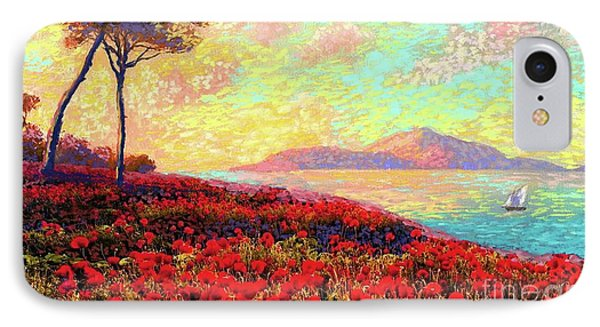 Impressionism iPhone 7 Case - Enchanted By Poppies by Jane Small