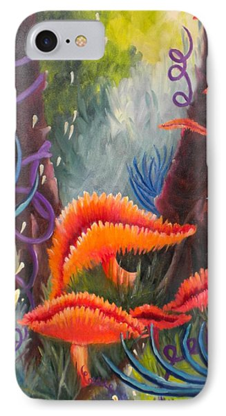 IPhone Case featuring the painting Enchanted Forest by Renate Nadi Wesley