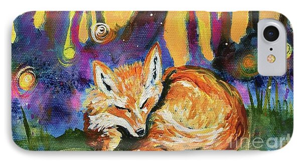 Enchanted Fox IPhone Case by Kim Heil