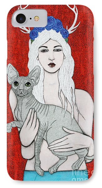 IPhone Case featuring the mixed media Enchanted by Natalie Briney