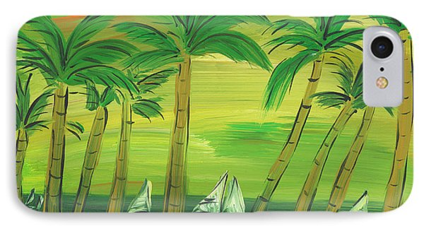 Enchanted Palms IPhone Case by Sally Huss