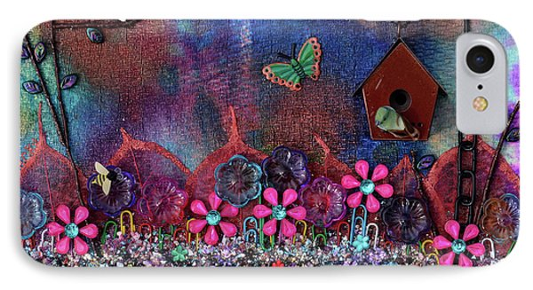 Enchanted Patchwork IPhone Case by Donna Blackhall