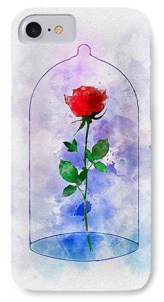 Enchanted Rose IPhone Case by Rebecca Jenkins