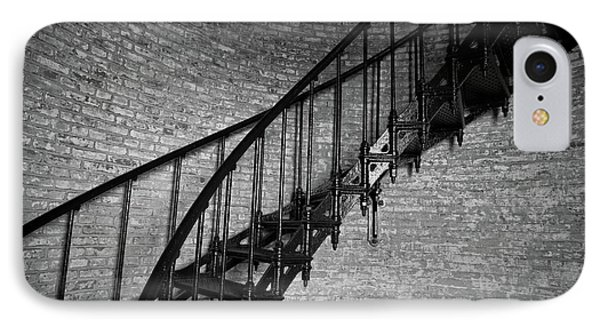 Enchanted Staircase II - Currituck Lighthouse IPhone Case by David Sutton