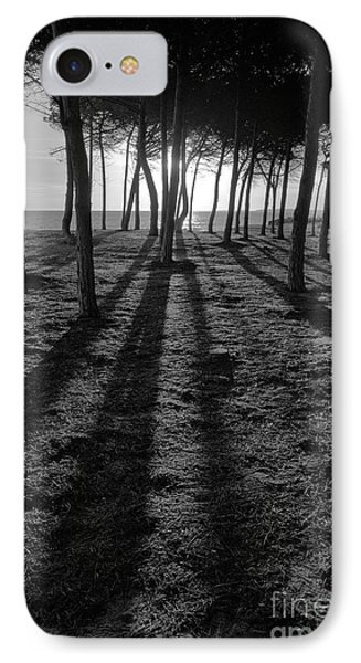 Enchanted Sunset In Monochrome IPhone Case by Angelo DeVal