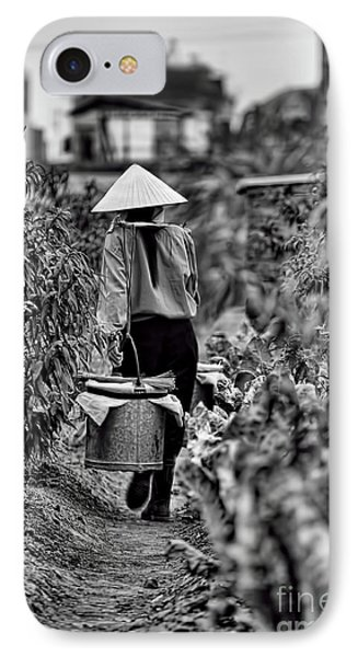 End Of The Day Vietnamese Woman  IPhone Case by Chuck Kuhn