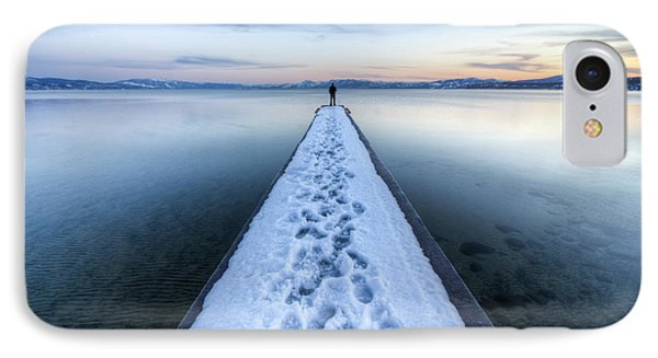 End Of The Dock In Lake Tahoe  IPhone Case by Dustin K Ryan