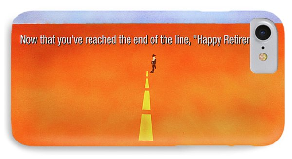 End Of The Line Greeting Card IPhone Case by Thomas Blood