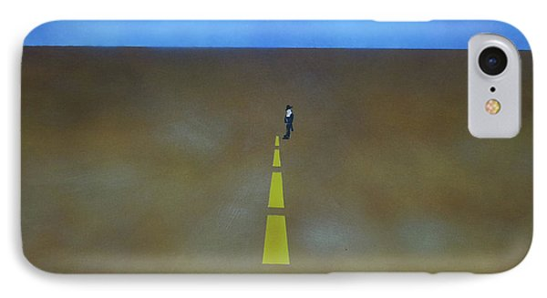 IPhone Case featuring the painting End Of The Line by Thomas Blood
