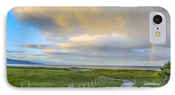 End Of The Road, Brora, Scotland IPhone Case by Sally Ross