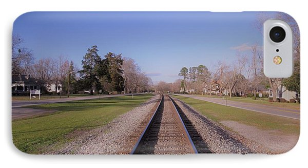 IPhone Case featuring the photograph Endless Railroad by Aaron Martens