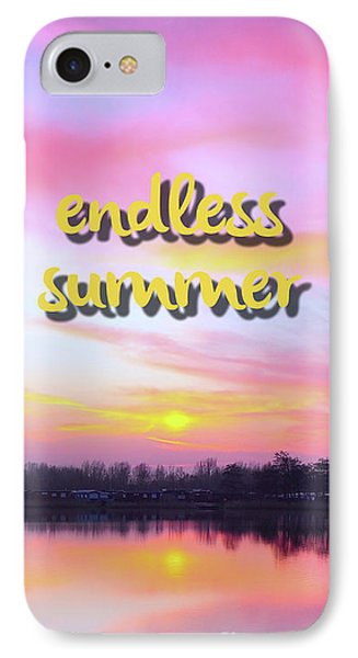 Endless Summer Design IPhone Case by Edward Fielding