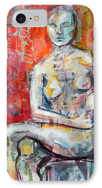 IPhone Case featuring the painting Energy In Stillness by Mary Schiros