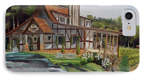 IPhone Case featuring the painting Engelheim In The Morning - Vineyard - Ellijay, Ga by Jan Dappen