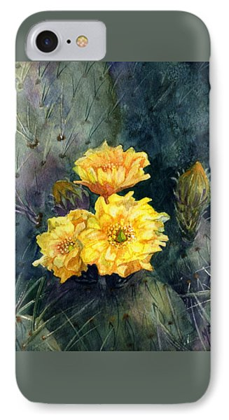 Engelmann Prickly Pear Cactus IPhone Case by Marilyn Smith