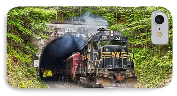 Engine 501 Coming Through The Brush Tunnel IPhone Case