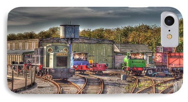 Engine Sheds Quainton Road Buckinghamshire Railway Phone Case by Chris Thaxter