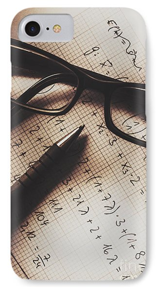 Engineer Students Technical Equations In Mechanics IPhone Case