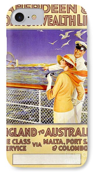 England To Australia IPhone Case by Nostalgic Prints