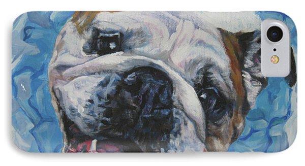 English Bulldog Phone Case by Lee Ann Shepard