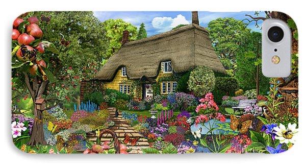 English Cottage Garden IPhone Case