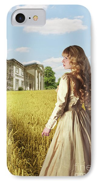 English Countryside With Mansion IPhone Case by Amanda Elwell