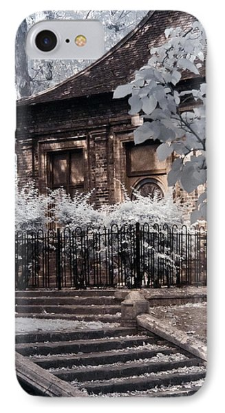 English Garden House IPhone Case by Helga Novelli