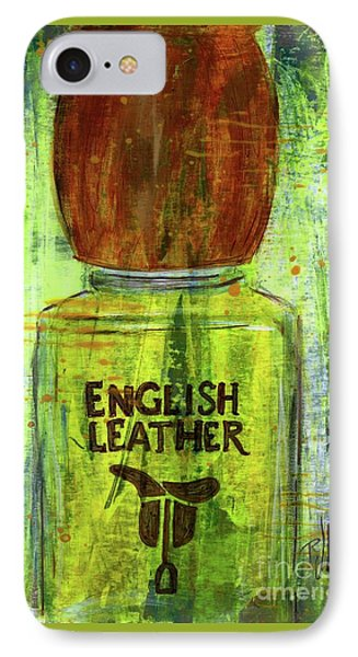 IPhone Case featuring the painting English Leather by P J Lewis