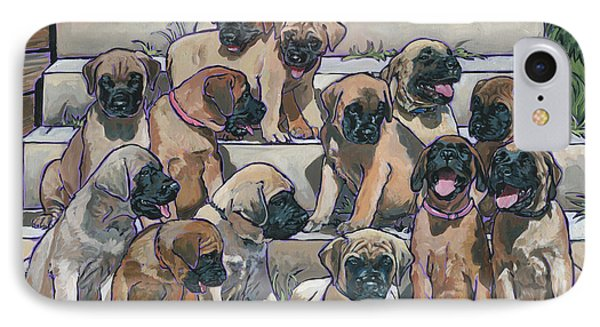 English Mastiff Puppies IPhone Case by Nadi Spencer