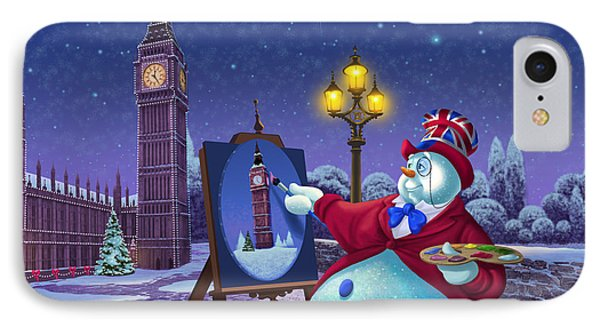 English Snowman IPhone Case