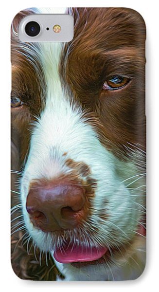 English Springer Spaniel 2 - Paint IPhone Case by Steve Harrington