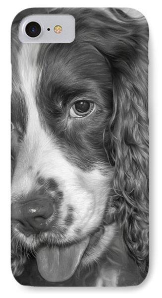 English Springer Spaniel - Bw IPhone Case by Steve Harrington