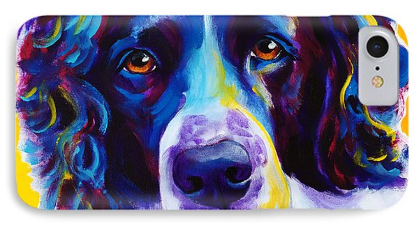 English Springer Spaniel - Emma IPhone Case by Alicia VanNoy Call
