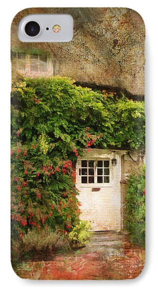 English Thatched Cottage On The Isle Of Wight IPhone Case by Carla Parris