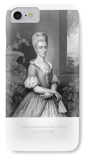 Engraved Portrait Of Lady Catherine Duer, Circa 1780 IPhone Case by Craig McCausland