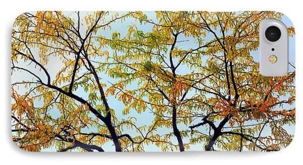 IPhone Case featuring the photograph Enhanced Fall Tree by Ellen Barron O'Reilly
