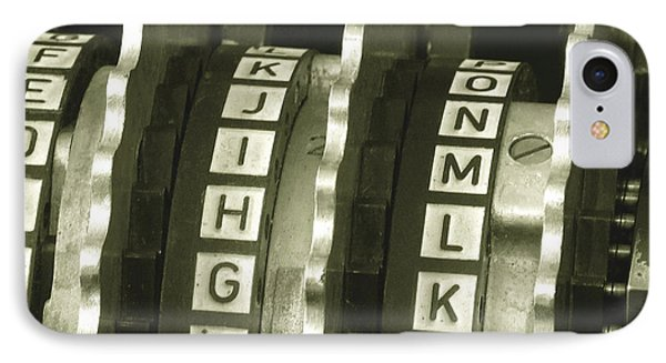 Enigma Cipher Machine IPhone Case by English School