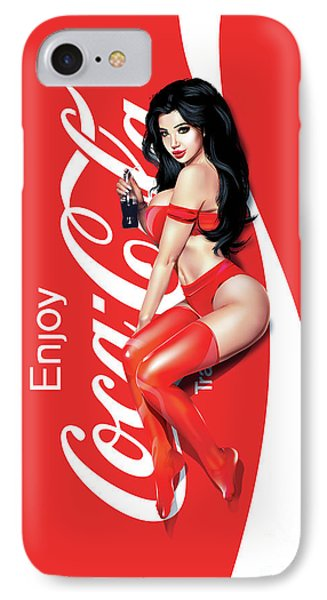 IPhone Case featuring the digital art Enjoy Coca Cola by Brian Gibbs
