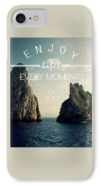 Enjoy Life Every Momens IPhone Case by Mark Ashkenazi