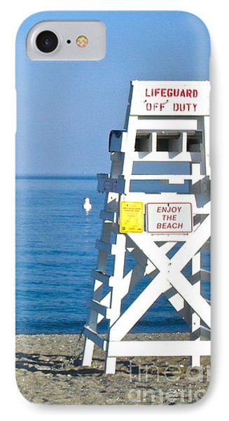 Enjoy The Beach IPhone Case by Beth Saffer