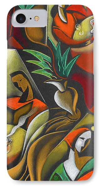 IPhone Case featuring the painting Enjoying Food And Drink by Leon Zernitsky
